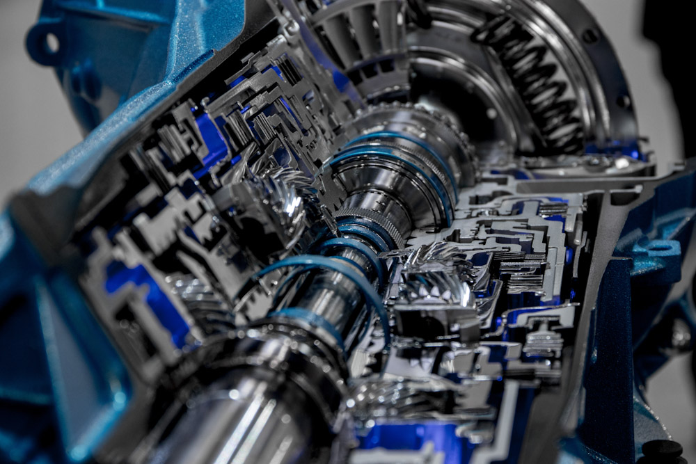 coss-section of an automatic transmission