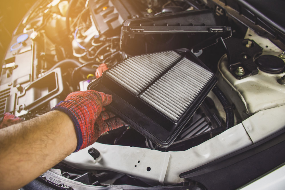 Under the hood of a car tune up